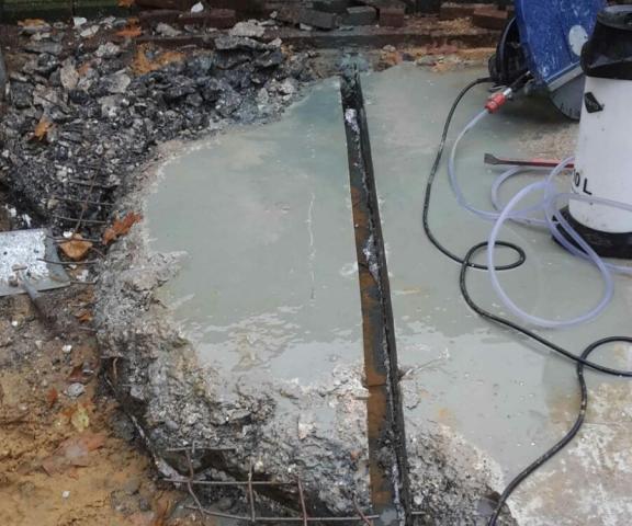 betonvloer slopen buiten