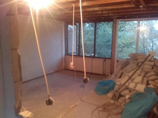 sloopwerk plafond verwijderen